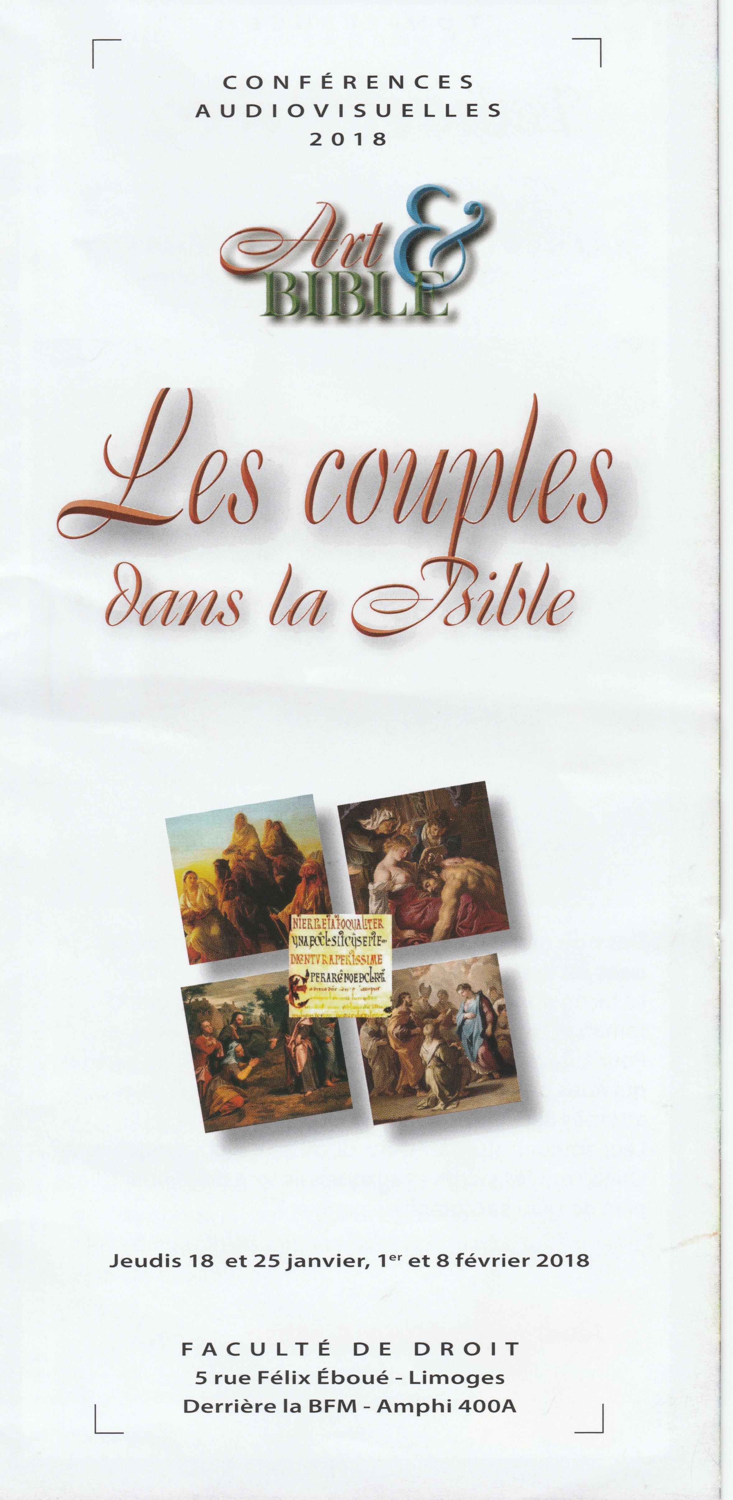 ART ET BIBLE - LES COUPLES DANS LA BIBLE