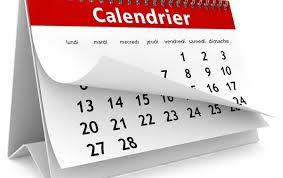 Horaire des messes pour la période du lundi 2 juillet au dimanche 2 septembre 2018 (inclus)