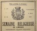 IL Y A CENT ANS : LE DIOCÈSE DE LIMOGES VU À TRAVERS LE MAGAZINE DIOCÉSAIN « SEMAINE DE LIMOGES » (N° 4)