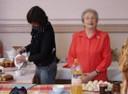 Au Bistrot du Curé, Marie-Hélène Sabatier et Georgette Navarro