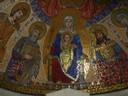 """Église de la Dormition<br /> Mosaïque dans l'église de la Dormition ou """"endormissement"""" de la Vierge Marie , sur le Mont Sion à Jérusalem."""